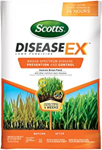 Scotts DiseaseEx Lawn Fungicide – Lawn Fungus Control & Treatment, Lawn Disease Control for Brown Patch, Powdery Mildew & More, Controls up to 4 Weeks, Fast Acting, Treats up to 5,000 sq. ft., 10 lb.