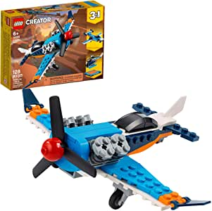LEGO Creator 3in1 Propeller Plane 31099 Flying Toy Building Kit, New 2020 (128 Pieces)
