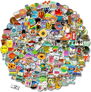 300 PCS Stickers Pack (50-850Pcs/Pack), Colorful Waterproof Stickers for Flask, Laptop, Phone, Water Bottle, Cute Aesthetic Vinyl Stickers for Teens, Girls