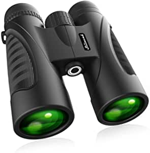 Binoculars for Adults 12 x 50 High Powered for HD Waterproof Zoom, Powerful Binoculars with Clear and Durable BAK-4 Prism FMC Lens for Bird Watching, Travel, Hunting, Concerts, Football.