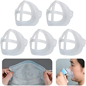 Cool Protection Stand – 3D Mask Bracket – Face Mask Inner Support Frame – Plastic Bracket – More Space for Comfortable Breathing Protect Lipstick Washable Reusable