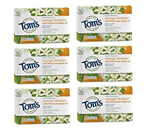 Tom's of Maine Natural Beauty Bar Soap, Blossom With Moroccan Argan Oil, 5 Ounce, 6 Pack Orange 30.0 Ounce