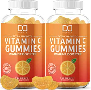 Vitamin C Gummies for Adults Kids, Vitamin C Chewable Vegan Gummy for Immune Support Immunity Booster – Gummy Alternative to Tablet Powder Chewables, Liquid Drops, Pills Capsules Packets (2 Pack)