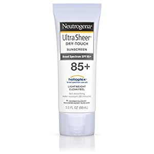Neutrogena Ultra Sheer Dry-Touch Sunscreen Lotion, Broad Spectrum SPF 55 UVA/UVB Protection, Oxybenzone-Free, Light, Water Resistant, Non-Comedogenic & Non-Greasy, Travel Size, 3 fl. oz